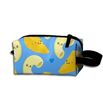 Cute Mac And Cheese Waterproof Multi-purpose Storage Tote Tools Bag Student Pen Pencil Case