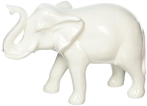 Zings Thingz 57073492 White Ceramic Elephant