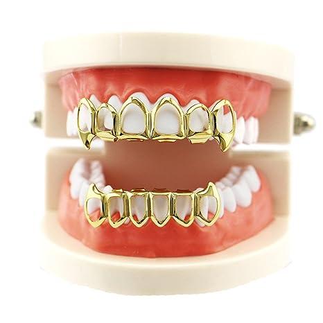 1 Unids dientes Hip Hop Grillz Superior e Inferior Boca ...
