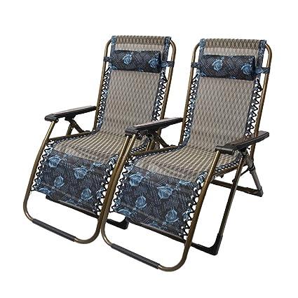 Groovy Amazon Com Dqchair Set Of 2 Patio Chairs Reclining Heavy Machost Co Dining Chair Design Ideas Machostcouk