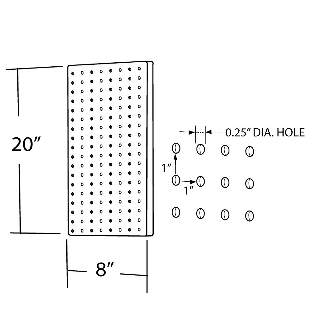 Azar 770820-PUR Pegboard 1-Sided Wall Panel, Purple Translucent Color, 2-Pack by Azar Displays (Image #2)