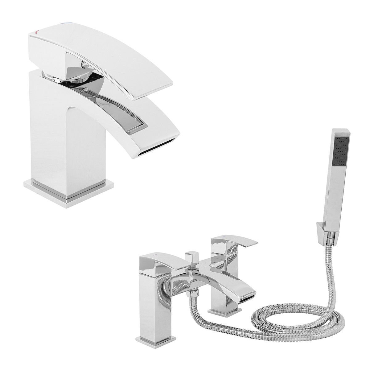 Generic s Pack S Bath Shower ath Show Mixer Tap Tap Ba Modern Bathroom Chrome Sin Mixer Taps Pack Set me Basin Sink Basin Sink