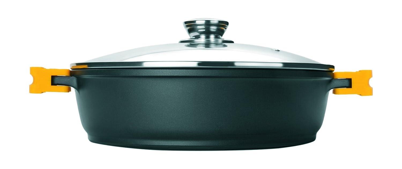 Ibili 461024 - Olla con tapa, Aluminio fundido, negro, 24 x 24 x 8 cm: Amazon.es: Hogar
