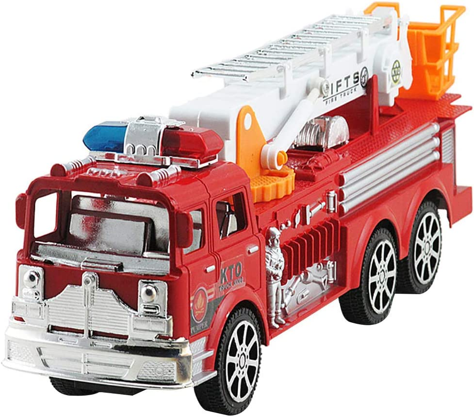 Beiguoxia modelo de coche, escalera de simulación, camión, camión de bomberos, juguete educativo modelo de vehículo para niños