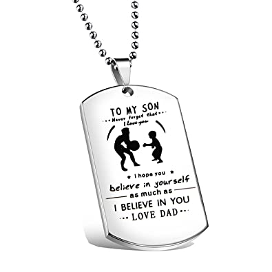 Amazon ensianth father son jewelry never forget that i love you ensianth father son jewelry never forget that i love you necklace dog tag necklace to my solutioingenieria Image collections