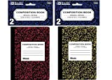 BAZIC 80 Ct. 4.5 x 3.25 Mini Marble Composition Book (2/Pack), Case Pack 24 by Bazic