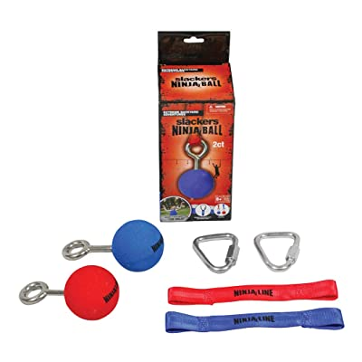 "Slackers Ninja Ball with Hardware (2 Piece), Red/Blue, 2.5"": Toys & Games"