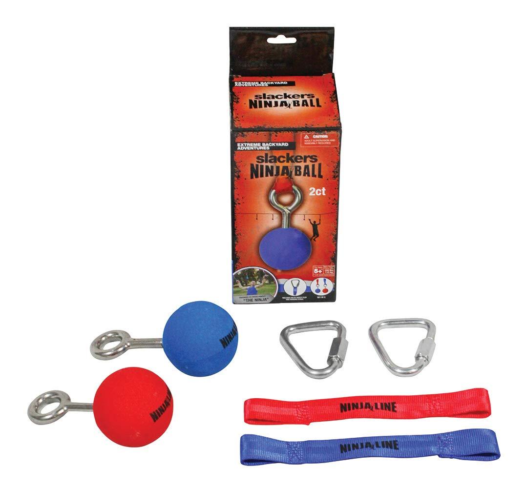 "Slackers Ninja Ball with Hardware (2 Piece), Red/Blue, 2.5"""