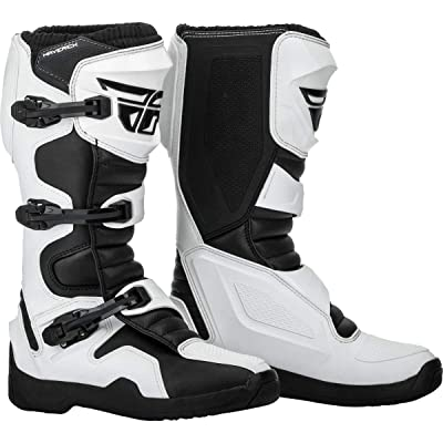 Fly Racing 2020 Maverik Boots (7) (White/Black): Automotive [5Bkhe0105032]