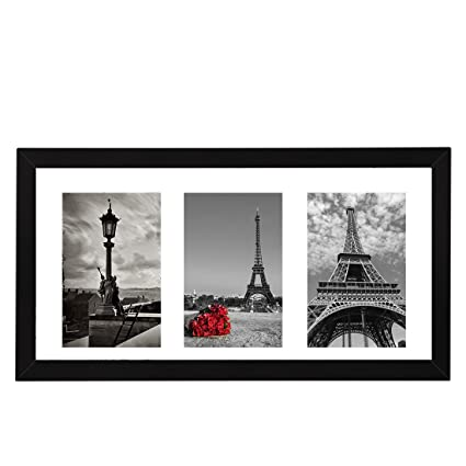 Amazon.com - BOJIN Photos Instagram Frame, Black Wooden Poster Frame ...