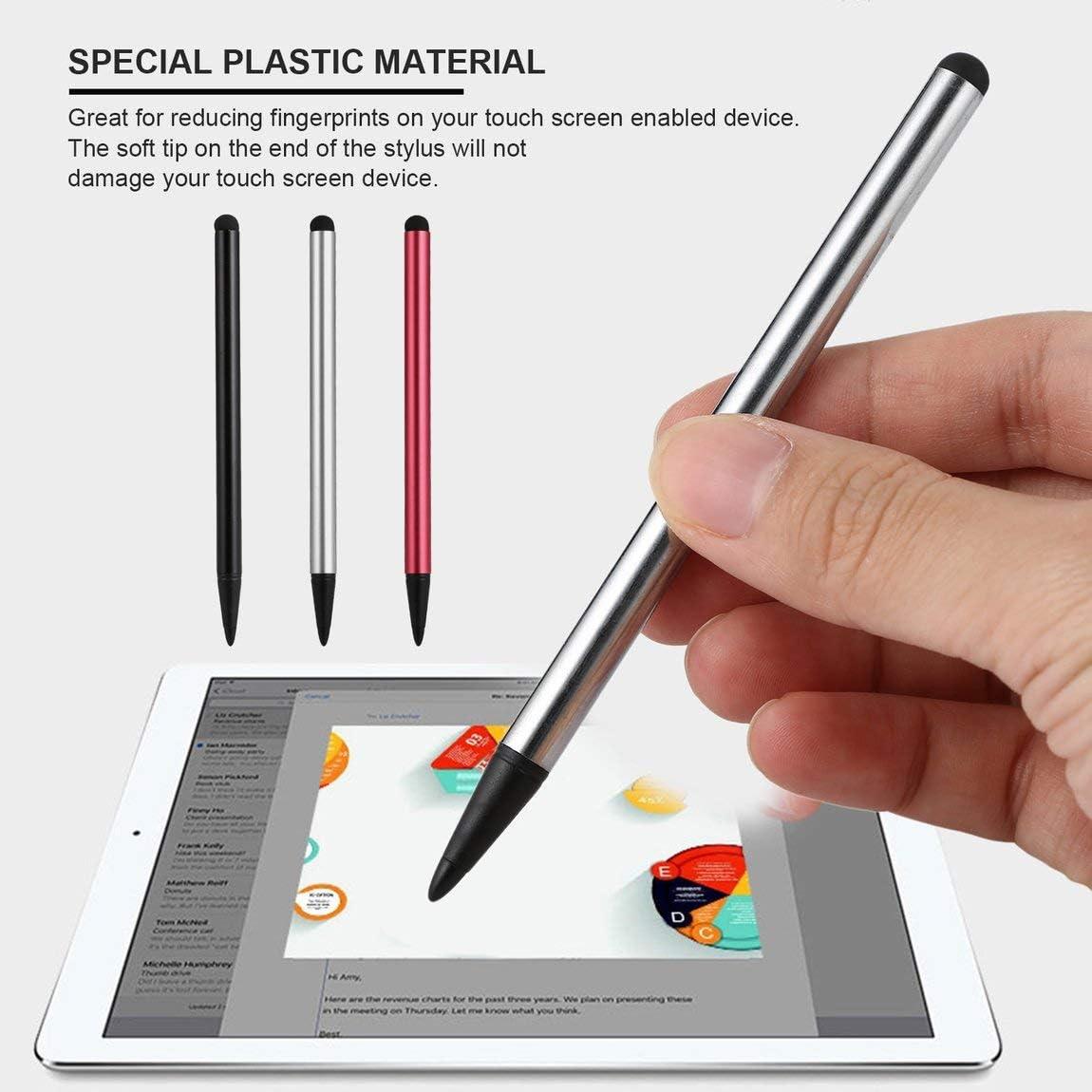 Color: Plateado 73JohnPol 1 UNID Punta Dura Resistente de l/ápiz /óptico para Juego de Pantalla t/áctil de Resistencia para el tel/éfono Inteligente de Tableta Universal