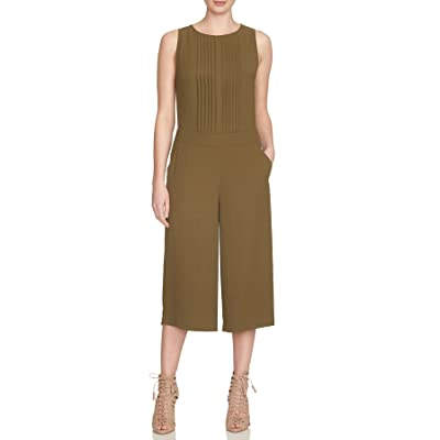 1.State Pleated Front Culotte Jumpsuit For Women In Olive, Medium