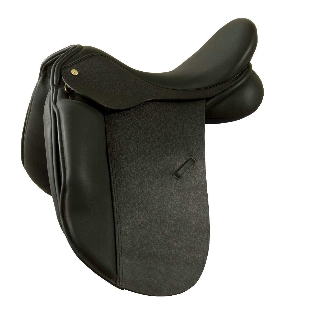Black 14 Inches Black 14 Inches New Black Leather Dressage All Purpose English Horse Racing Tack & Saddle ES-504 (14 Inches, Black)