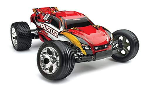 Amazon.com: Traxxas RTR 1/10 Rustler with Water Proof XL-5 RTR and 7 Cell  Battery with Charger, Red: Toys & Games