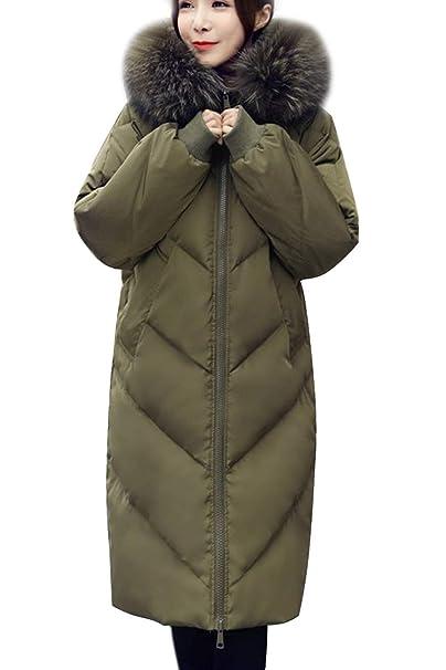 Chaqueta Acolchada Mujer Tallas Grandes Encapuchado Ropa Parkas Invierno Otoño Invierno Largos Elegantes Plumas Moda Outerwear Manga Larga con Bolsillos ...