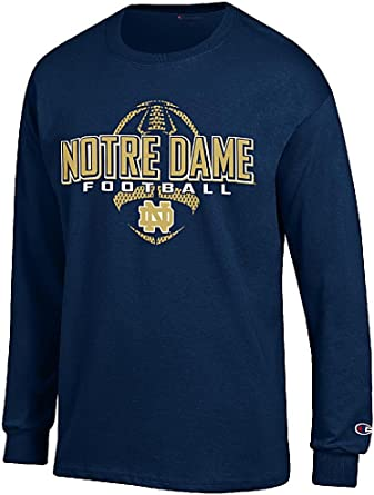 Sports Navy NCAA Notre Dame Fighting Irish Mens NCAA Mens Short Sleeve Football Season Jersey Teechampion NCAA Mens Short Sleeve Football Season Jersey Tee Medium