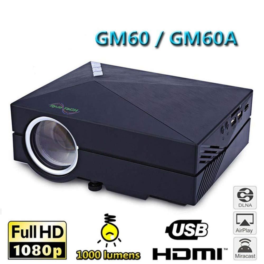 KAIDILA Proyector, claridad gm60a LCD proyector 1000Lm x 480 ...