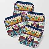 Society6 Drink Coasters, The Dance by cherilash, set of 4