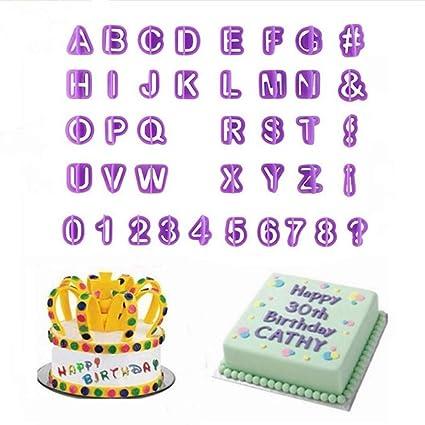 Amazon Daimay 40 Pcs Alphabets Letters Fondant Cookie Mold