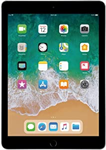Apple iPad 9.7in 6th Generation WiFi + Cellular (32GB, Space Gray) (Renewed)