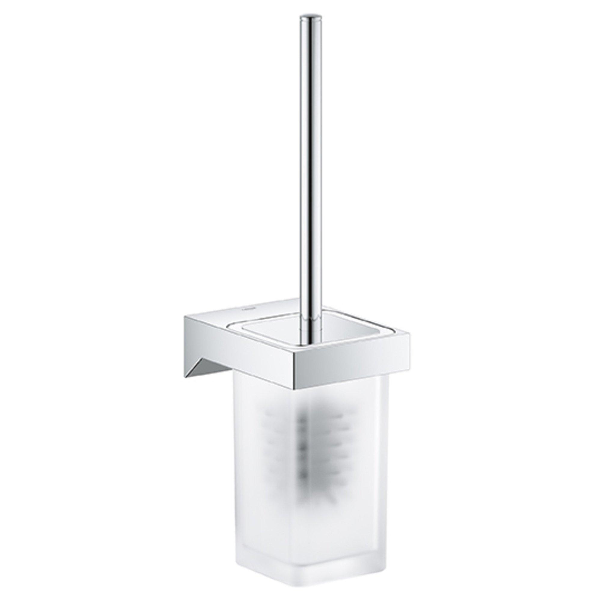 GROHE 40857000 Selection Cube Toilet Brush Set, Starlight Chrome