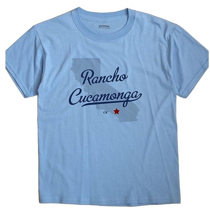 Amazon Com Rancho Cucamonga California Ca Map Greatcitees Unisex