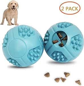 Pelotas de comida para perros PETOYO para juguetes IQ Ball Dispensador de alimentos IQ Entrenamiento para perros medianos y grandes, filete aromático de goma suave, gruesa, juego de 2: Amazon.es: Productos para
