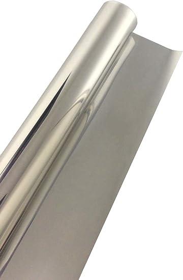 Sonnenschutzfolie mit Spiegeleffekt Kratzfest 75 x 900cm Silber