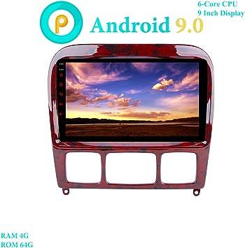 XISEDO 9 Pulgadas Android 9.0 Autoradio 6-Core RAM 4G ROM 64G In Dash Radio de Coche para Mercedes-Benz S-W220/S280/S320/S350/S400/S430 (Autoradio): Amazon.es: Electrónica