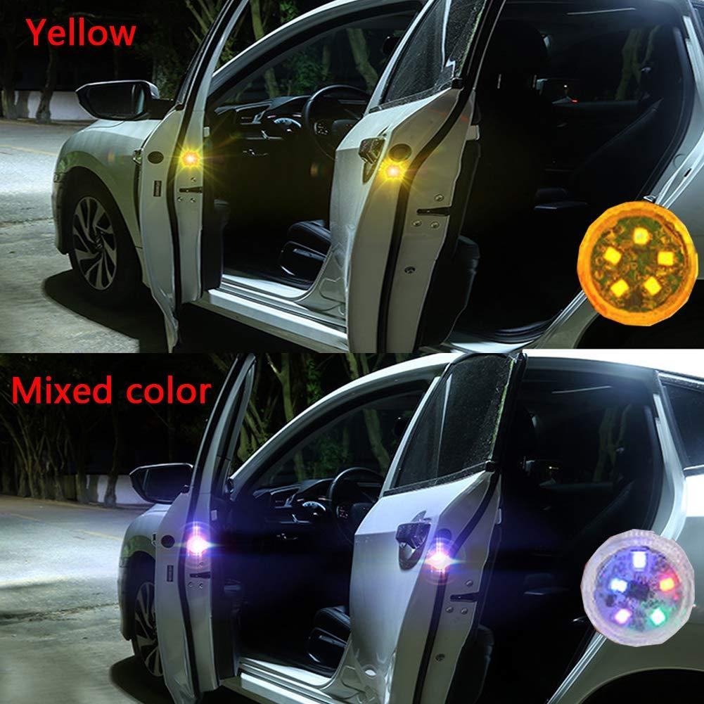 LED auto porta luce di segnalazione,2//4//6/pezzi impermeabile luci lampeggianti LED Open di sicurezza magnetico auto Warn lampada anti-collisione Gate spia luminosa