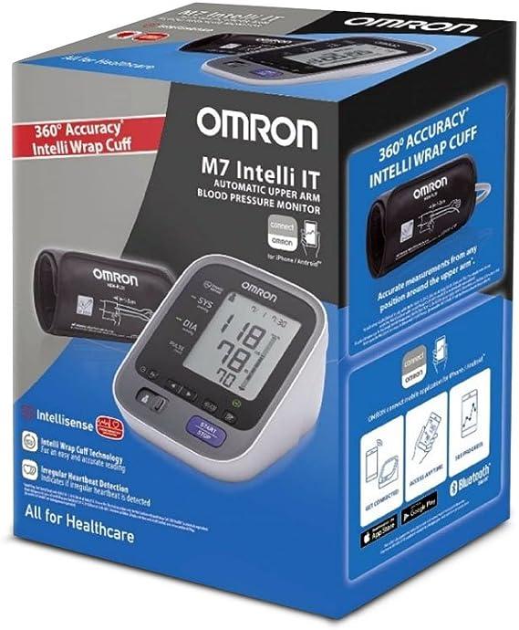 OMRON M7 Intelli IT - Tensiómetro de brazo, Bluetooth, aplicación OMRON Connect para móviles, tecnología Intelli Wrap Cuff: Amazon.es: Salud y cuidado personal