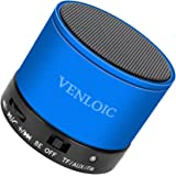 VENLOIC Portable Wireless Bluetooth Speaker with Built-in-Mic,Handsfree Call,AUX Line,TF Card,HD Sound and Bass for Iphone Ipad Android Smartphone and More(BLUE)