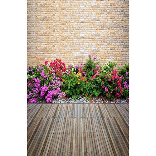 YJYDADA Vinyl Wood Wall Floor Photography Studio Prop Backdrop Background 3x5FT(90x150cm) (E)