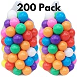 A List Finds 200 Balls for Ball Pit 7 Colors BPA Free Crush Proof Plastic Balls for Ball Pit Balls for Toddlers Kids 2.2 Inches Balls Toys