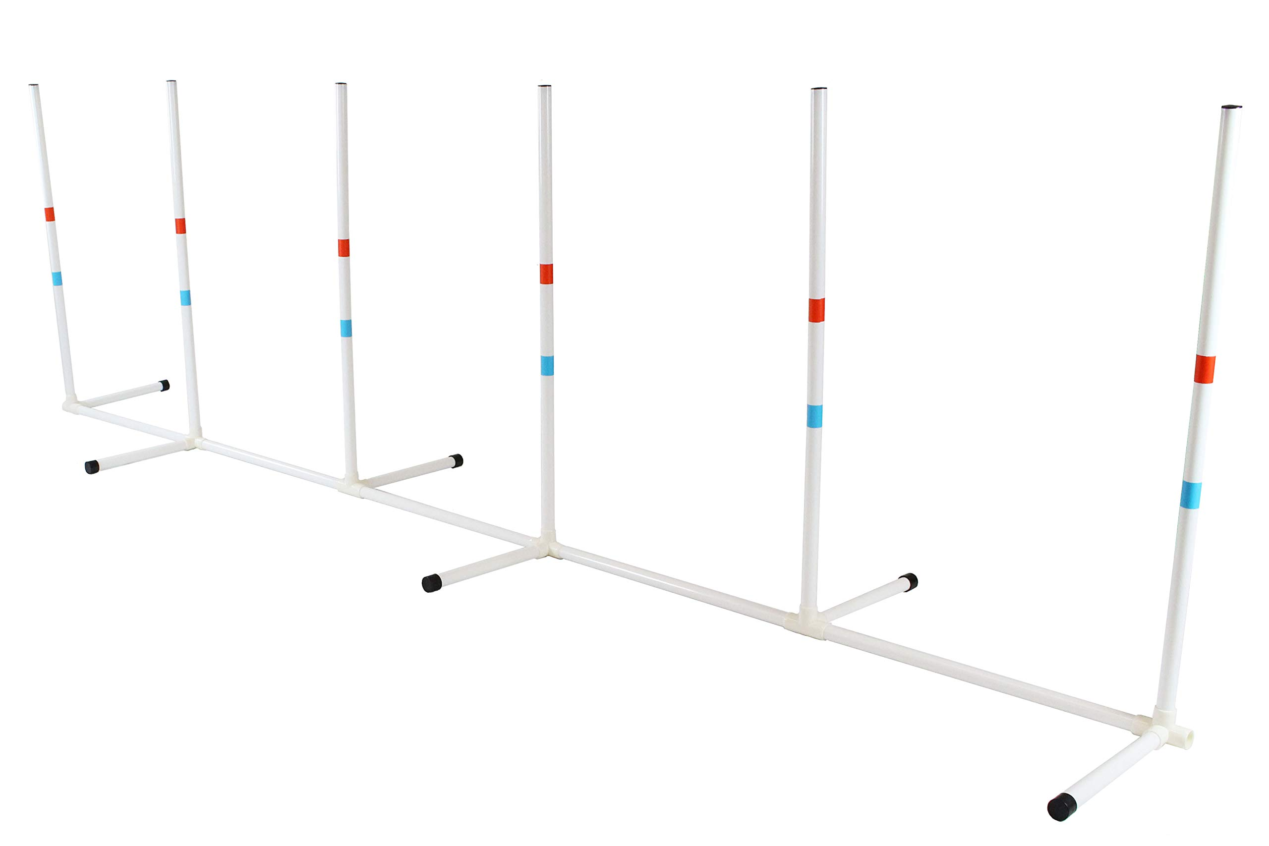 Midlee Dog Agility Weave Poles - Portable Canine Training Equipment - Outdoor Games, Weaving Practice - Light Weight with Carrying Bag by Midlee