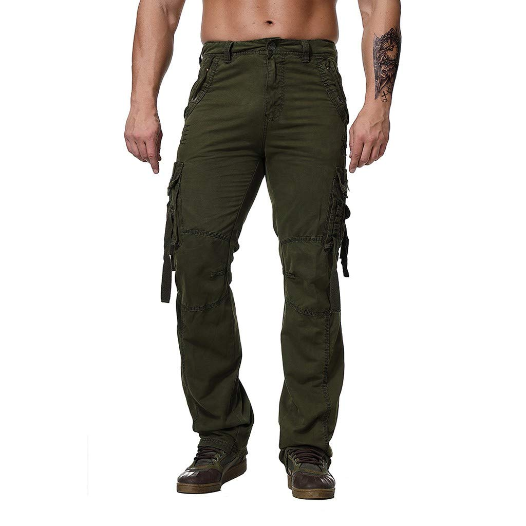 Men's Tactical Cargo Pants - Men Cotton Regular Fit Military Army Multi Pocket Trousers - Casual Outdoor Work Combat Pants