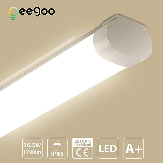 LED Decken Feuchtraum Büro Wannen Leuchte Lagerhalle Garage Lampe Industrie Flur