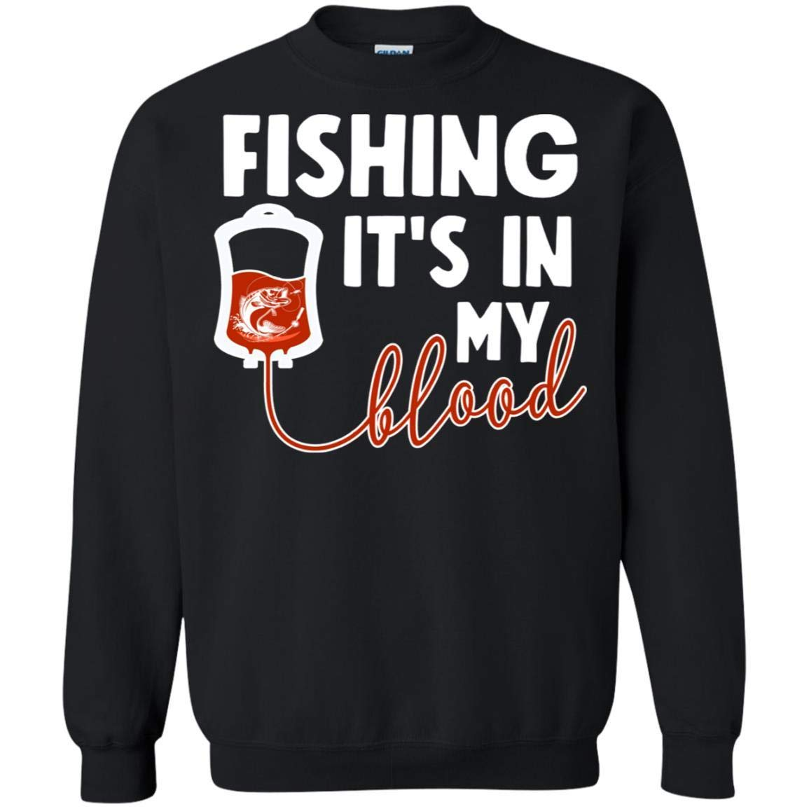 TeeAbelia Fishing Its in My Blood Shirt