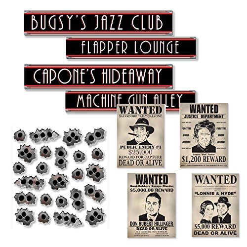 Roaring 20s Prohibition Party Decoration Kit