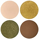Party Party Party Collection Eyeshadow Quad: 4 Single Eye Shadows Makeup Magnetic Refill Pan 26mm, Paraben Free, Gluten Free, Made in the USA