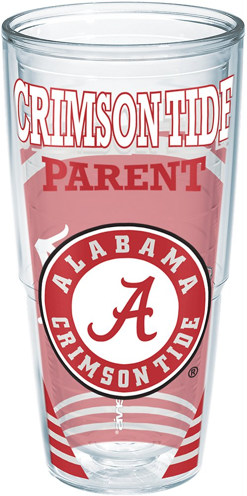 Tervis 1224328 Alabama Crimson Tide Parent Insulated Tumbler with Wrap Clear 16oz