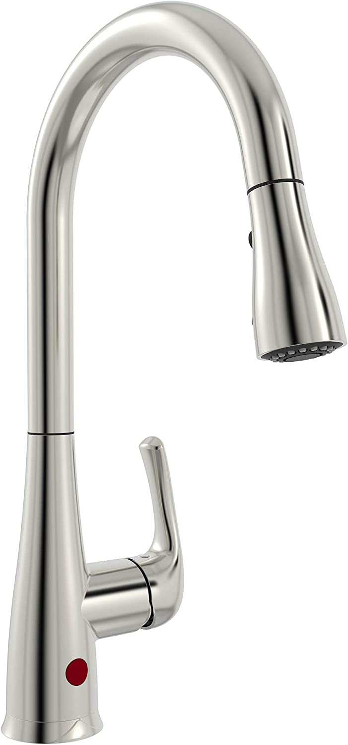 Belanger Nex76cbn 1 Handle Movement Sensor Kitchen Sink Faucet With Pull Down Spout Brushed Nickel Finish Amazon Com