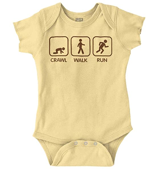 6d46bf56d5f Amazon.com  Brisco Brands Crawl Walk Run Athletic Newborn Baby Gift ...