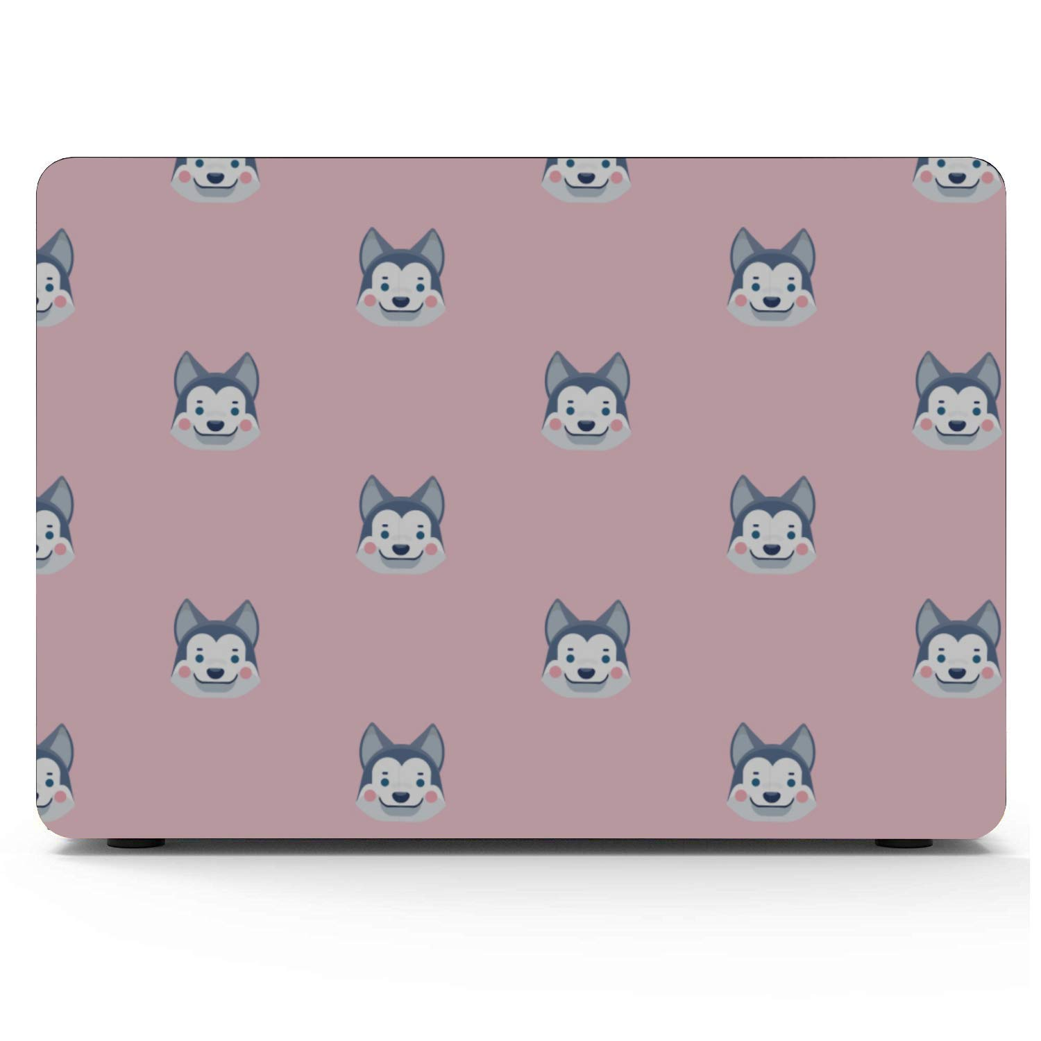 13 in Laptop Case Smart Cartoon Cute Pet Dog Husky Plastic Hard Shell Compatible Mac Air 11 Pro 13 15 Mac Covers Protection for MacBook 2016-2019 Version
