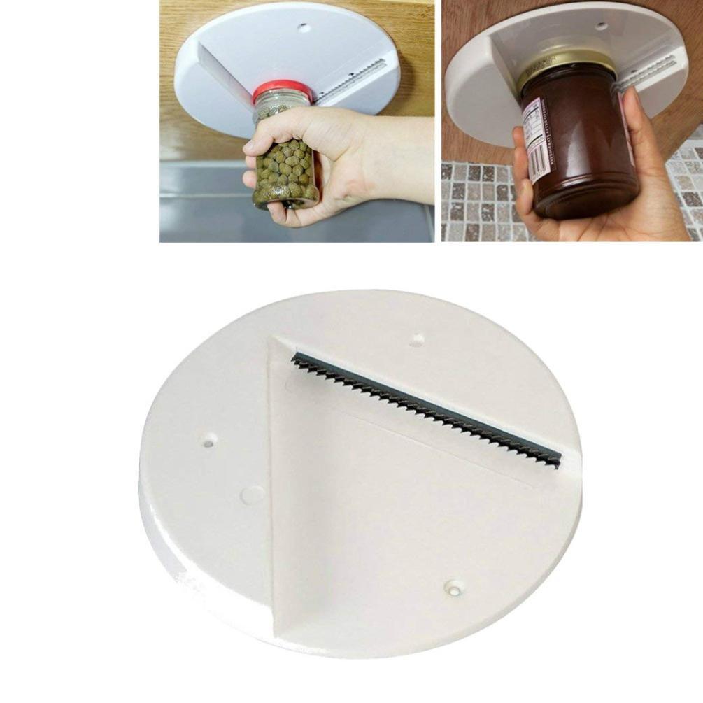 Tpingfe Jar Opener Under Kitchen Cabinet Counter Top Lid Remover Arthritis Can Opener