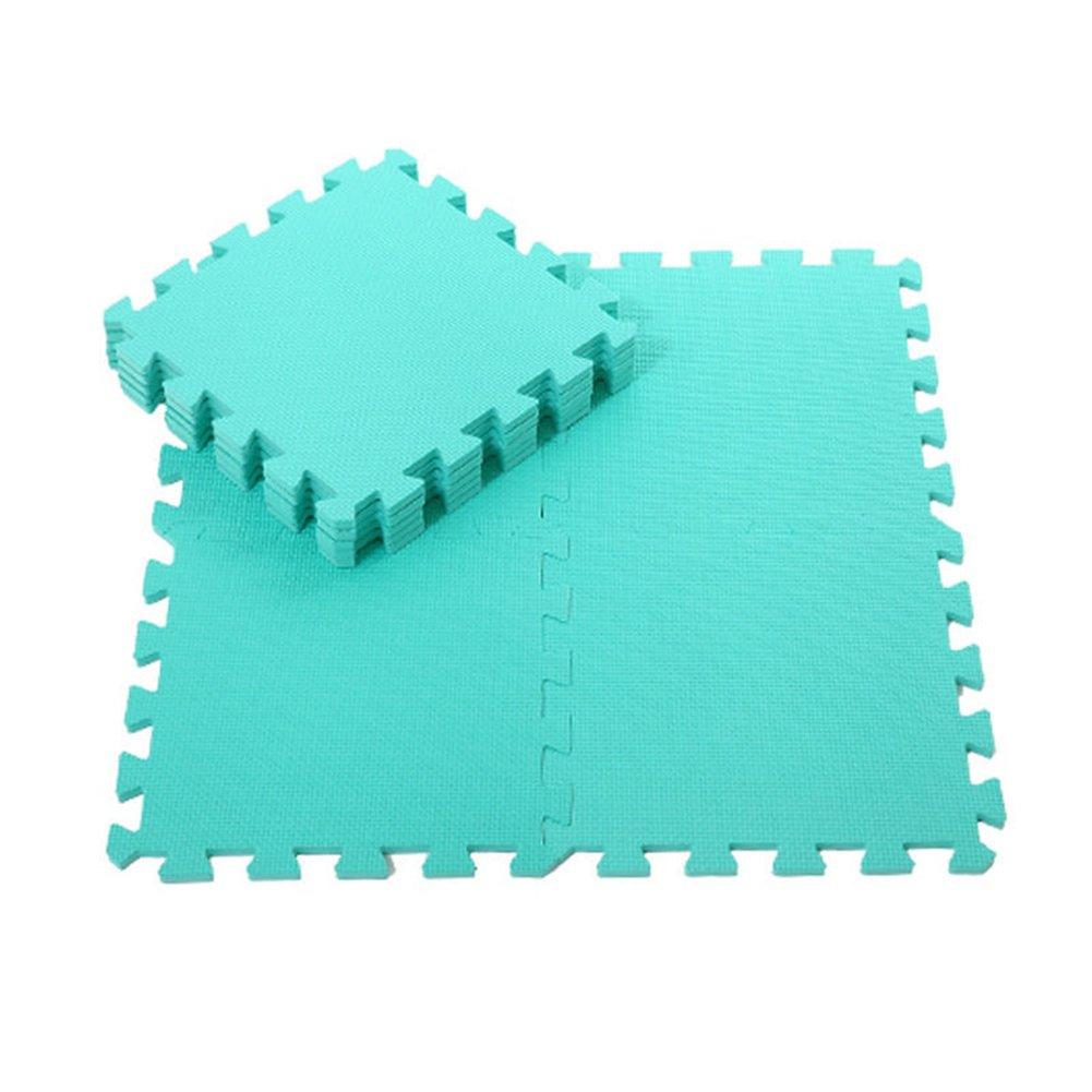 Quietcloud 9Pcs Kids Foam Floor Play Mat Game Puzzle Environmental Protection Mats Yoga (Green)