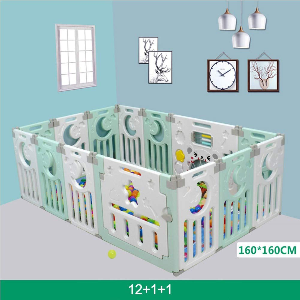 QXYA Corralitos para Bebes Plegable Baby Playpen Including Fun Activity Panel Parque Infantil Bebe Centro De Actividades para Ni/ños Juego De Seguridad En El Patio Interior Y Exterior6+2