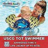Aqua SwimSchool USCG Aprobado Tot Nadador con Brazo flotantes, Tipo V Chaleco Salvavidas/PFD, Mediano/Grande