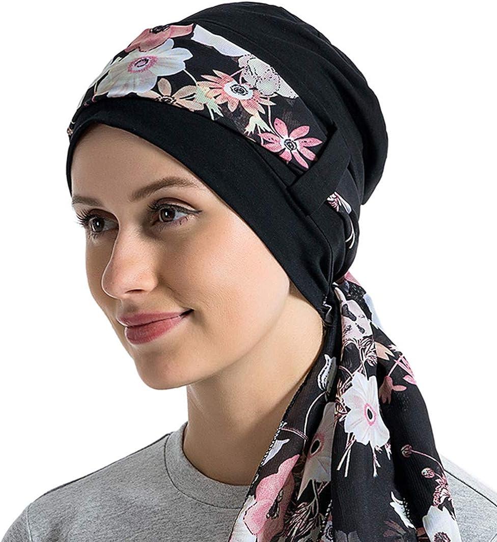 Single Layer Comfortable Viscose Beanie Soft Chemo Headwear Stretchy Sleep Hat