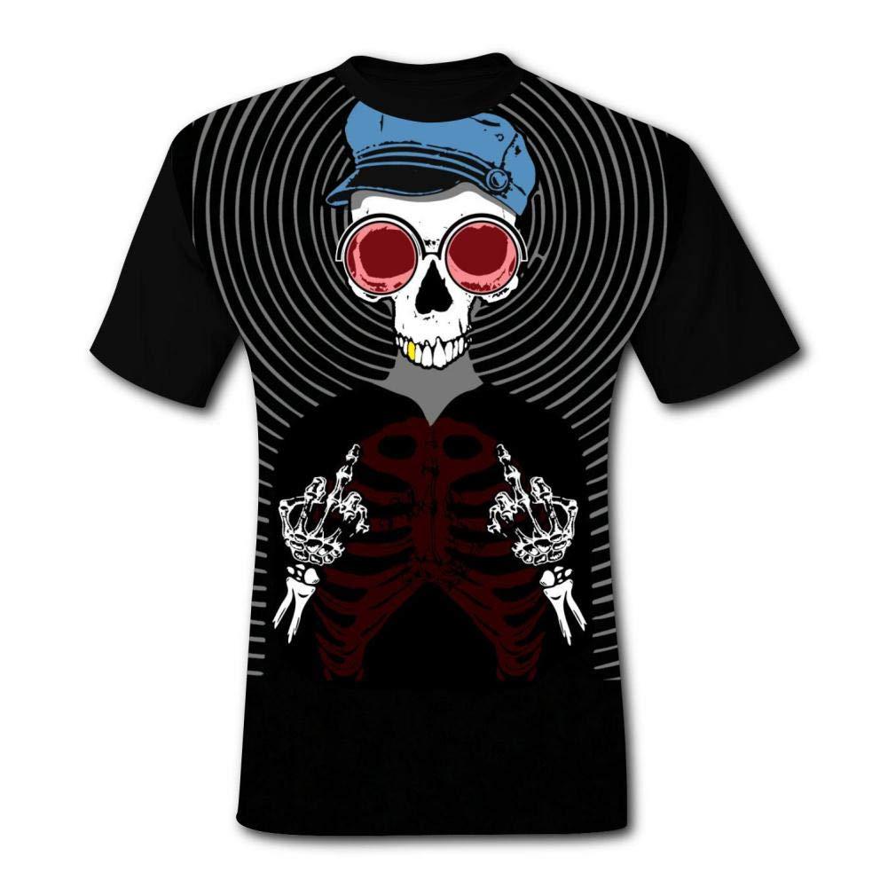THE/_TOPSTee682 Skull Ghost Fashion Print Graphic Cotton Tee Shirt Short Sleeve T-Shirt for Men Women